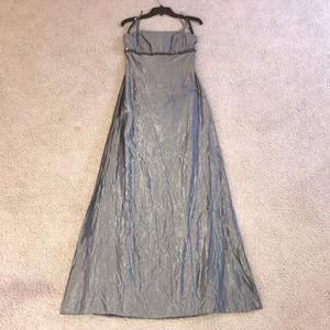 Alfred Angelo Silver/Gray Formal Dress